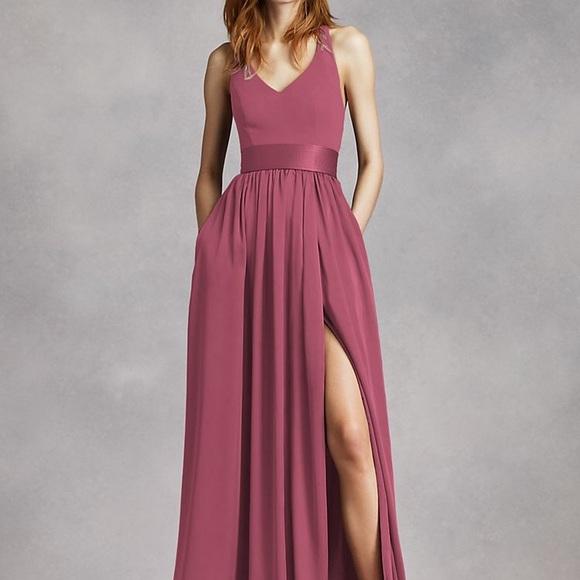 Vera Wang Dresses & Skirts - Vera wang v neck halter bridesmaid dress